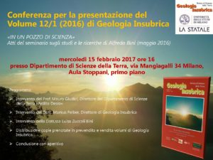 Locandina conferenza presentazione Volume 12 n. 1 - 2016